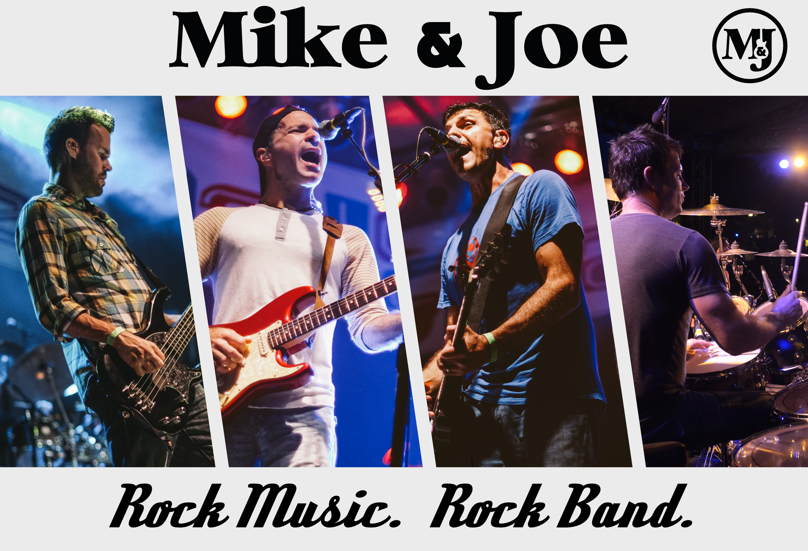 3 Mike and Joe Promo slanted lines w rock slogan