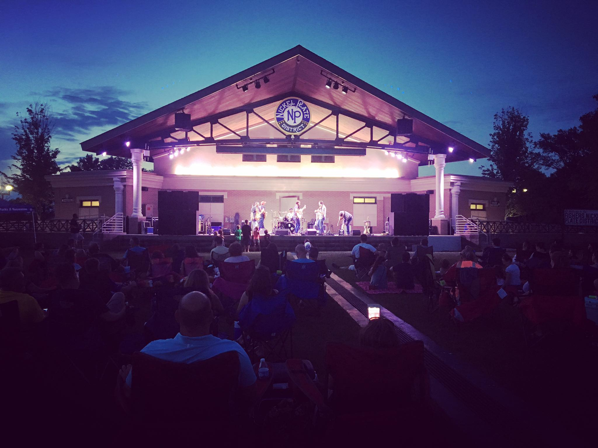 Nickel Plate Amphitheater at Night During a Concert
